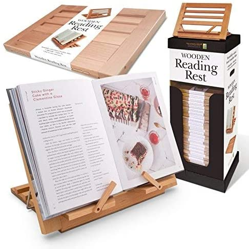 Wooden Reading Rest - Adjustable Cookbook Holder