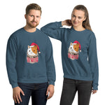 Meow Christmas Graphic Crew Neck Sweatshirt - Gazzli