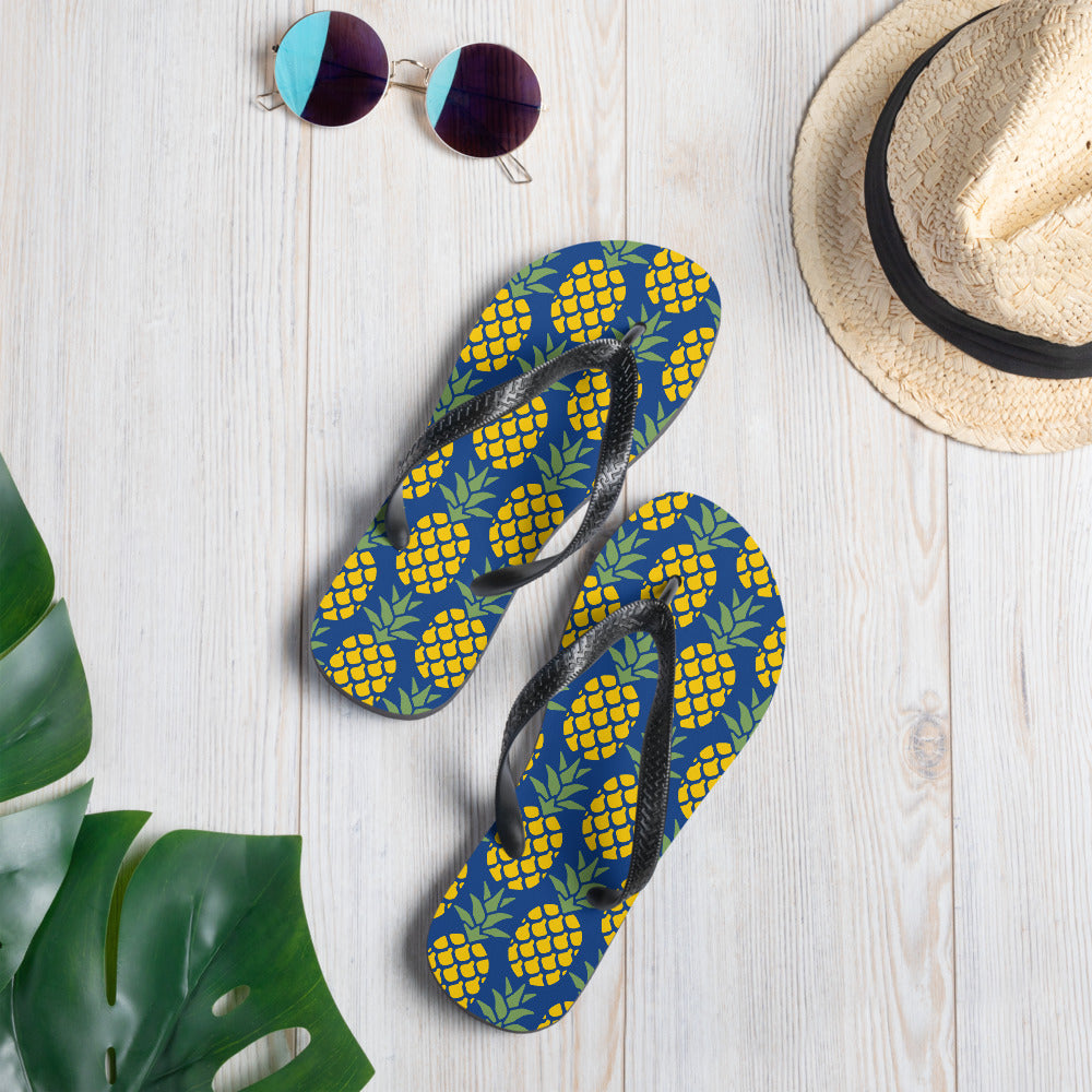 Pineapple Graphic Flip-Flops - Gazzli