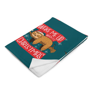 Christmas Graphic Throw Blanket - Gazzli