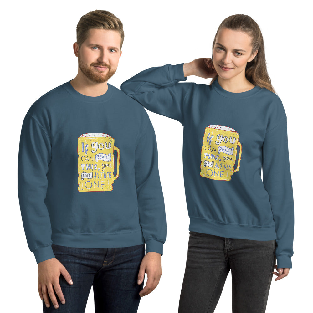Beer Graphic Crew Neck Sweatshirt - Gazzli