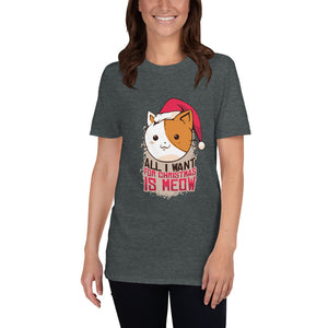 Meow Christmas Graphic Tee - Gazzli