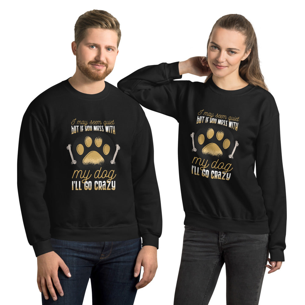 Dog Graphic Crew Neck Sweatshirt - Gazzli