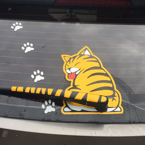 Kitty Cat Rear Windshield Wiper Decal