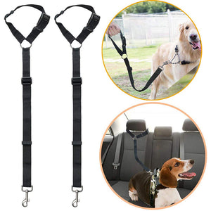 Headrest Dog Car Safety Seat Belt