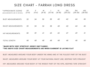 FARRAH LONG DRESS - 5 COLOURS