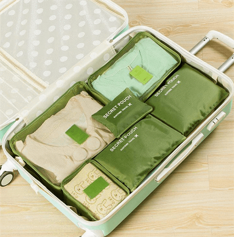 Luggage Packing Organizer Set (6pc) - Cosmas Collections