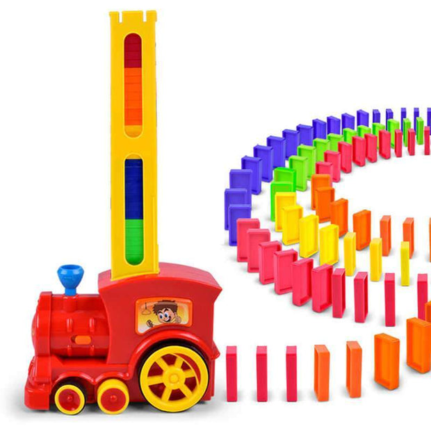 Electric Train Transparent 60 Dominos Puzzle Children's Toy - Cosmas Collections