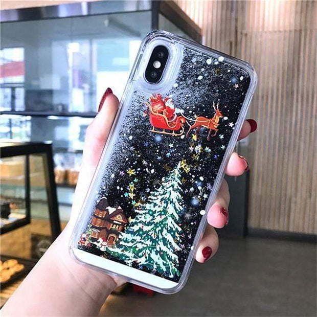 Dynamic Liquid Quicksand Christmas iPhone Case - Cosmas Collections