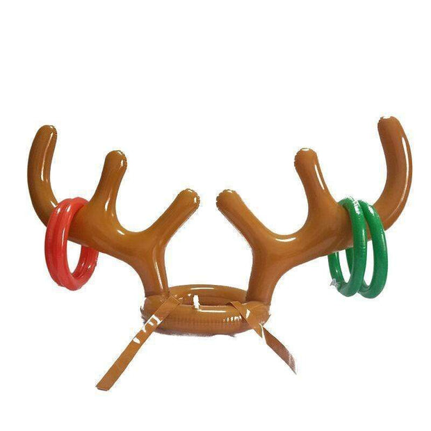 Inflatable Santa Reindeer Antler Hat Ring - Cosmas Collections