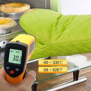 Digital Laser Thermometer 140 x 70 x 38mm Red Laser Infrared Thermometer - Cosmas Collections