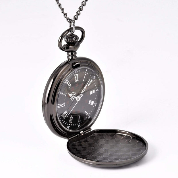 Retro Roman Numerals Pocket Chain Watch - Cosmas Collections