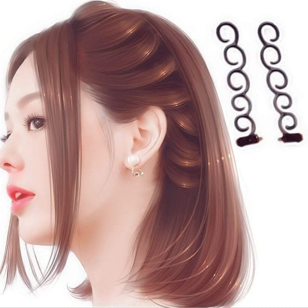 Twist Plait Hair Braiding Hairdressing Tools (2pcs) - Cosmas Collections