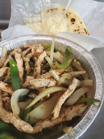 Grilled Chicken Fajitas (serves 1) - COOKED