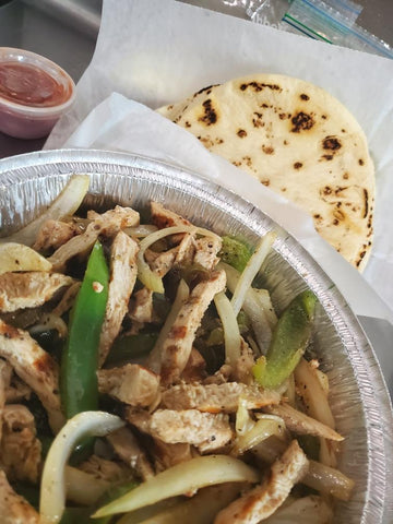 Grilled Shrimp and Chicken Fajitas Combo (serves 2) - COOKED