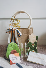 Load image into Gallery viewer, Avocado Collection: Jute Bag with Sash Tie, Customised Mug, Pouch and High Socks