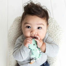 Load image into Gallery viewer, Glitter & Spice Single Teether (Dino)