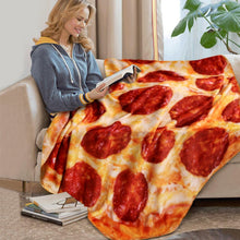 Load image into Gallery viewer, Crazy Pizza Blanket Pita Lavish Food Flannel Blanket for Bed  Fleece Throw Funny Double-sided Plush Bedspread