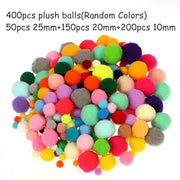 Cute Colorful Plush Stick Pom Poms Rainbow Colors Shilly-Shally Stick Educational