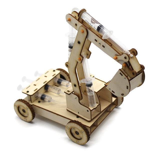 Hydraulic Excavator Model Puzzle Painted Kids Toys