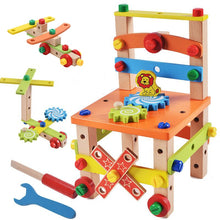 Load image into Gallery viewer, Wooden Assembling Multifunctional Variety Nut Combination Chair Tool