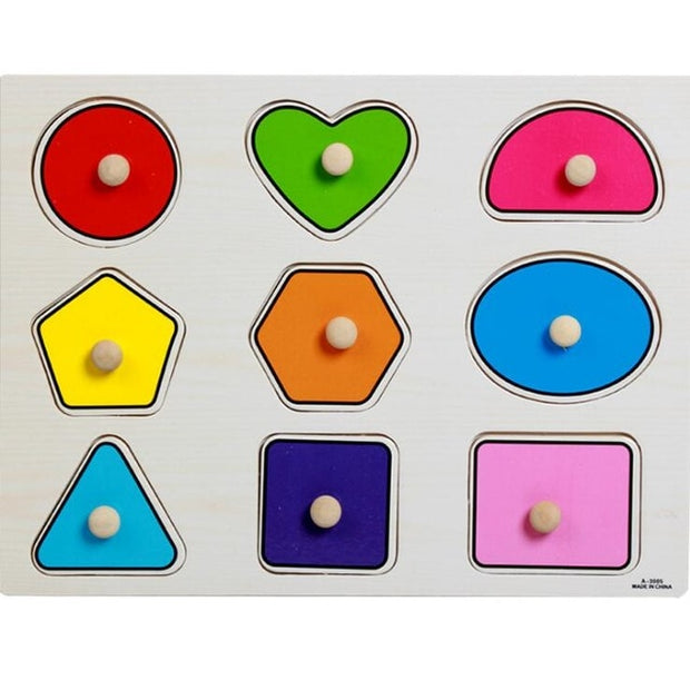 Baby Hand Grasp Wooden Puzzle Toy