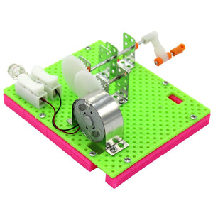 Funny Hand Crank Generator Physical Experiment Small Invention