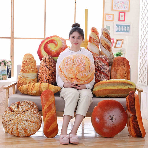 Plush Bread Burger Shape Pillow Funny Food Nap Pillow and Cushion for all Events