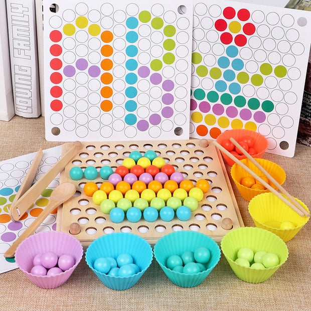 Wooden Beads Game Ball Puzzle - Early Learning