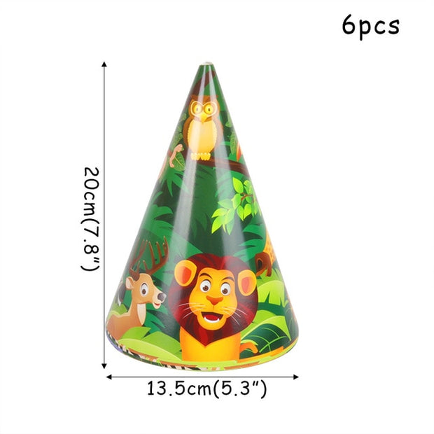 Cartoon Jungle Animal disposable Party Tableware Sets
