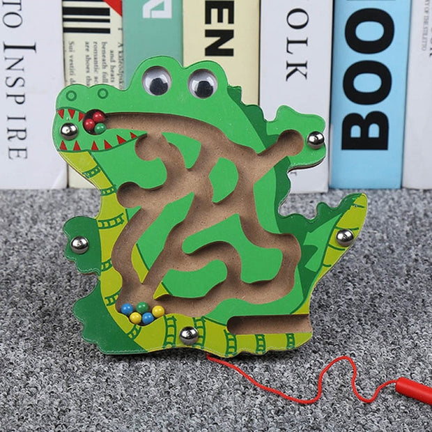 Animals style Wooden Magnetic Track Teaser Jigsaw Board Educational Learning Toy