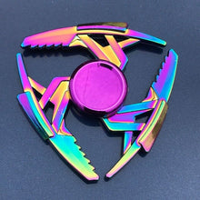 Load image into Gallery viewer, Beautiful Rainbow Metal Hand Spinner Focus Toy Spinner