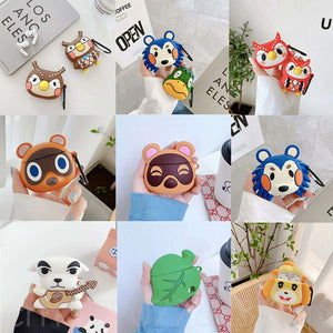 Hot Animal Crossing New Horizons 3D Earphone Case for Airpods Cute Cartoon Headphone Earpods Cover