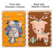 Funny Wooden Double-Sided Strip Puzzle Toy
