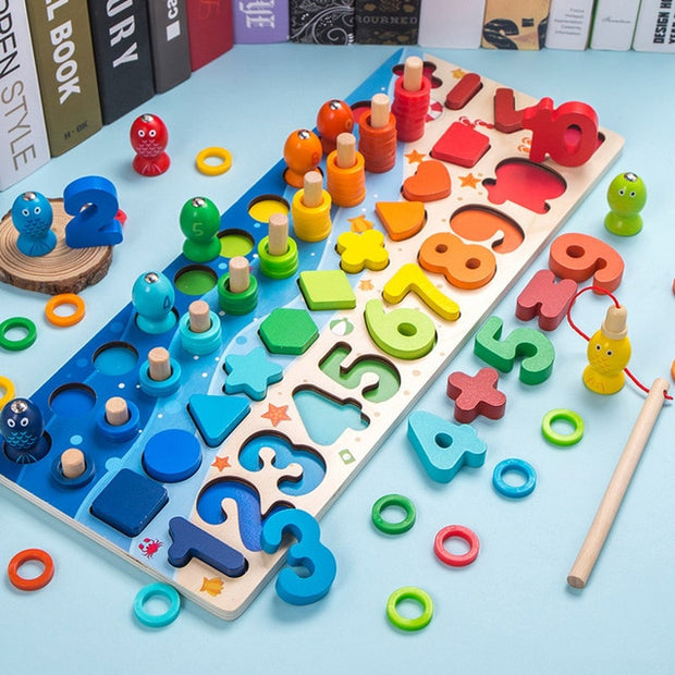 3D Magnetic Fishing Matching Building Block Toys