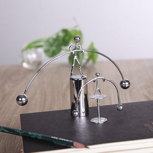 Fun Development Educational Desk Toy Newtons Cradle Steel Balance Ball
