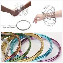 Load image into Gallery viewer, Magic Mesmerizing Bracelet Anti-Stress Stainless Steel Flow Color Rings Toy