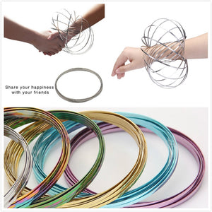 Magic Mesmerizing Bracelet Anti-Stress Stainless Steel Flow Color Rings Toy