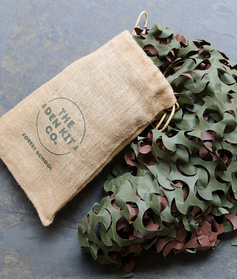 Camouflage netting in a bag