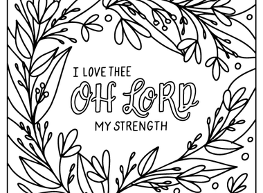 August Free Coloring Page