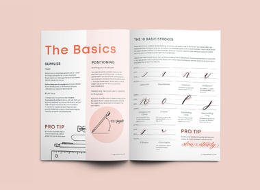 FREE Brush Lettering Basic Strokes Guide