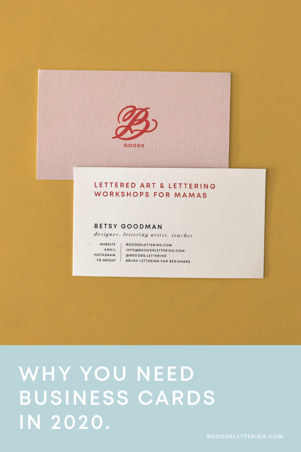 Business Cards for B Goods Lettering