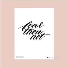 Fear Thou Not Free February Printable