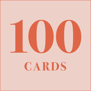 100 cards
