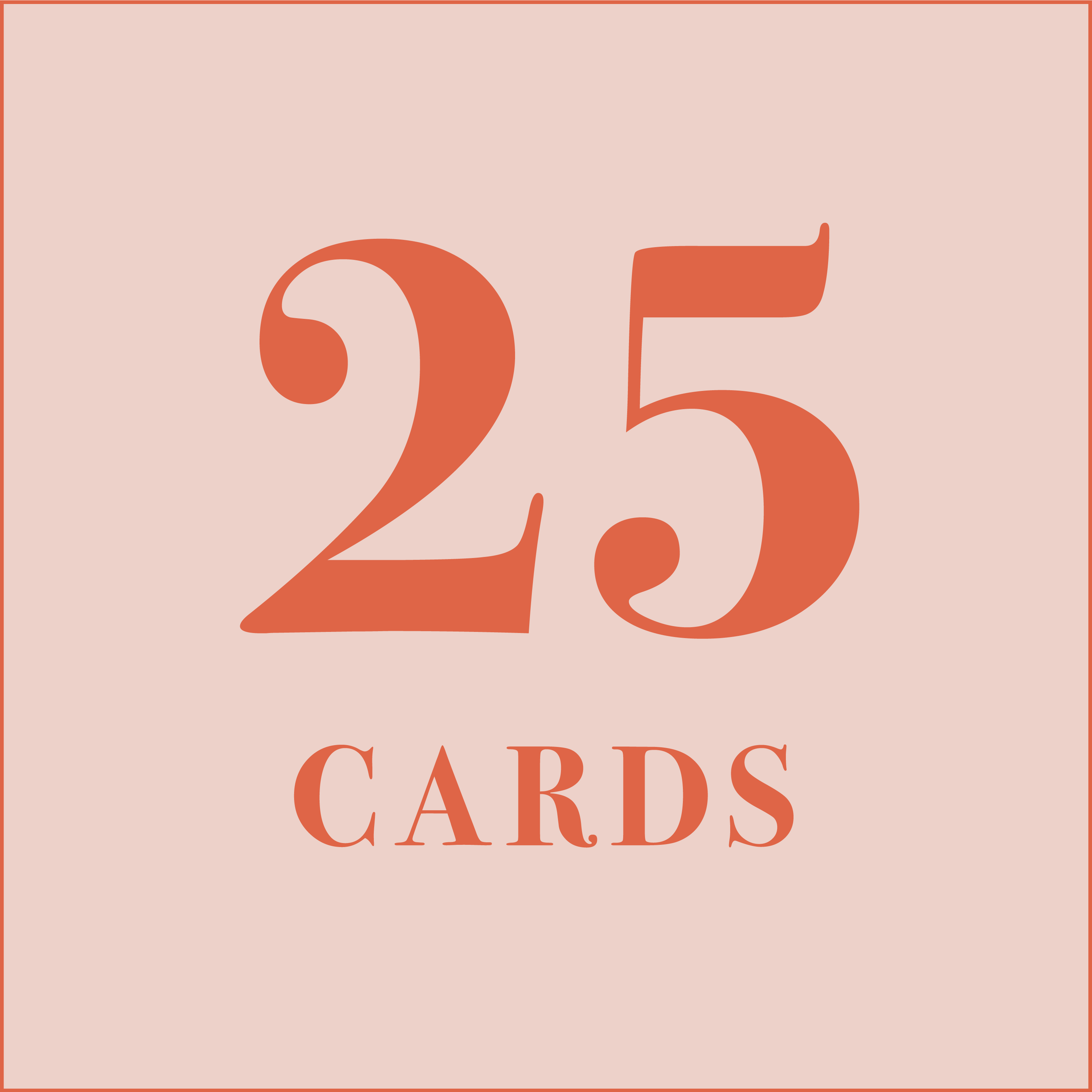 25 cards