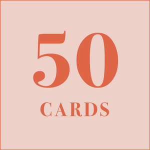 50 cards