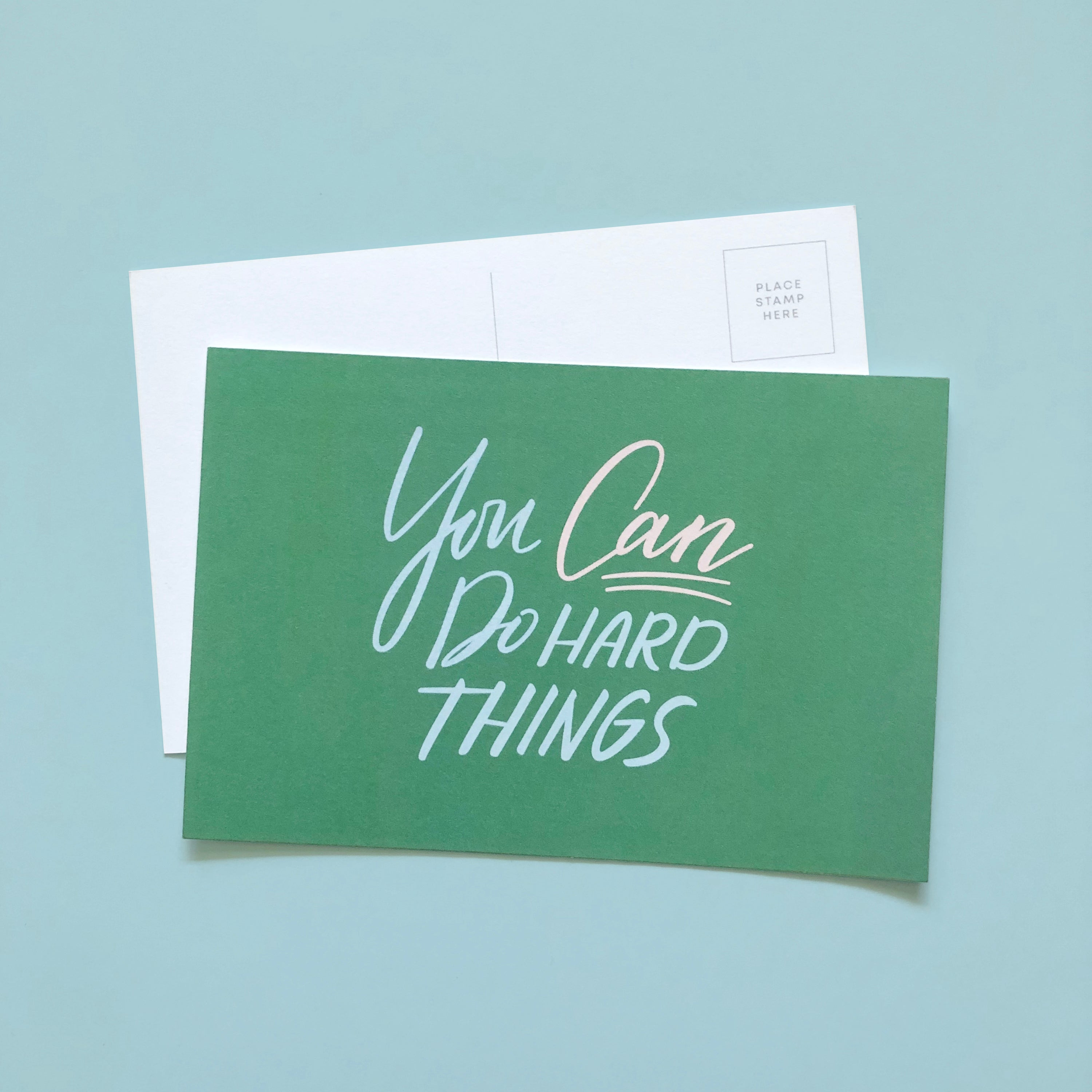 You can do hard things postcard