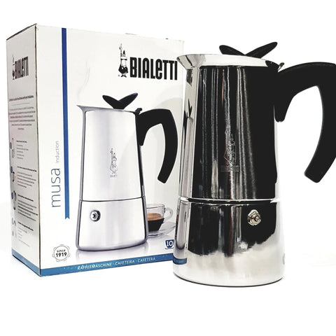 coffee roaster Canberra bialetti musa stainless steel stove top 10 cup