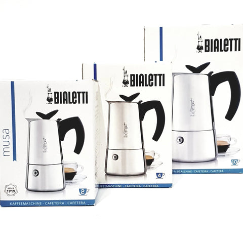coffee roaster Canberra bialetti musa stainless steel stove top 3 cup 6 cup