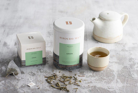BYRON BAY TEA GREEN SENCHA TEABAGS